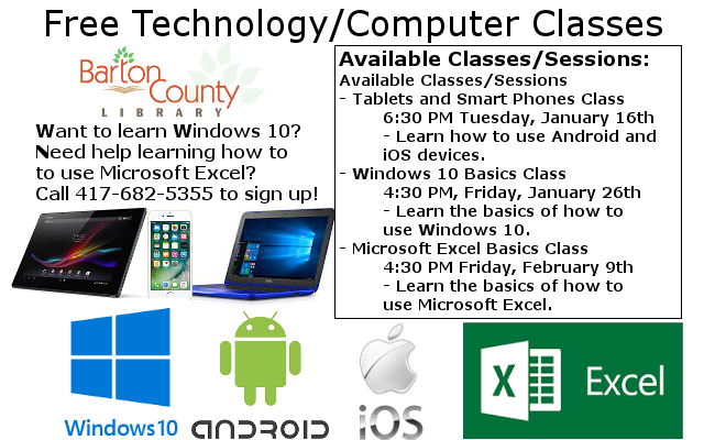 Classes Ad January February 2018 WS