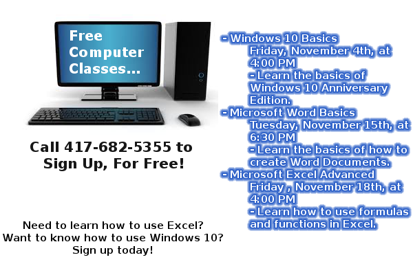 Computer classes Website