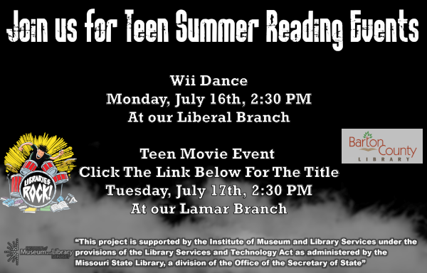 Teen Ad Wii Dance in Liberal July 16th