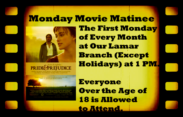 Monday Movie Matinee Feb 2018 website