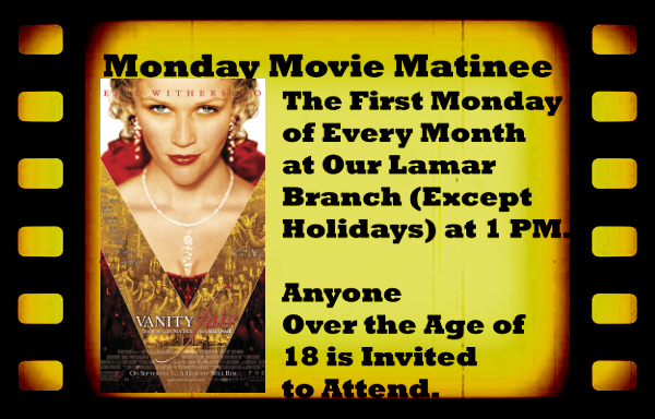 Monday Movie Matinee March 2018 website